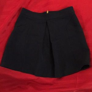 NWOT Topshop Skirt with Pockets - Navy Blue